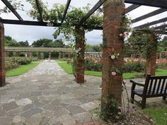 Rose Gardens, Southsea Isle Of Wight, Portsmouth, Hampshire, Pergola, Sidewalk, England, Gardens, Hacks, Outdoor Structures