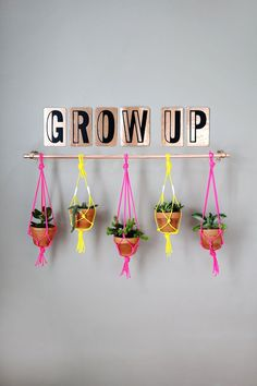 (easy + cute!) copper pipe hanging planter (click through for tutorial) #diy #crafts