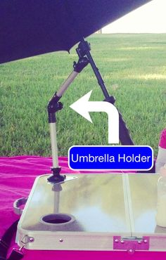 Wondering what that metal triangle with the Tablanket logo is on top of your tabletop?  Why is there a threaded hole in the middle of that plate?  Well, it's finally here, the universal umbrella holder! Tested under windy conditions, the robust design will hold up on those gusty days, and afterwards will store inside the Tablanket case.  Available now at www.tablanket.com for $9.99 plus $5.95 flat rate shipping.  Thank you for supporting Tablanket!