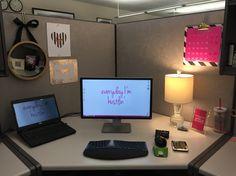 17 Ideas diy desk makeover desktops work spaces for 2019 Work Cubicle Decor, Cubicle Organization, Office Supply Organization, Office Decor, Cubicle Ideas, Office Chairs, Cubicle Makeover, Desk Makeover, Office Cube