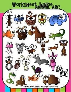#Free and fantastic #Alphabet Animal ClipArt! Has so many options that other alphabet sets do not!