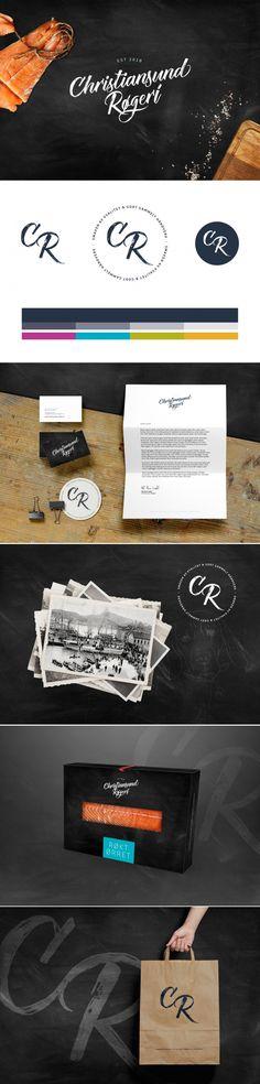 Christiansund Røgeri   Petchy Identity Design, Projects, Log Projects, Blue Prints, Brand Identity Design