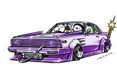 """crazy car art"" jdm japanese old school ""C210 JAPAN"" original characters ""mame mame rock"" / © ozizo Official web shop ""STAY CRAZY (in Society6)"" Official web shop ""ozizo(in Redbubble)"" ""Crazy Car Art"" Line stickers ""Crazy car Art"" Telegram stickers"