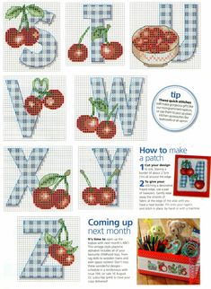 Cherry & Gingham ABCs