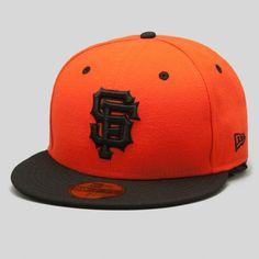 Upper Playground - SF Giants New Era Fitted Cap in Orange/Black