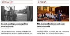 Aktuálně >>> http://plzen.cz/category/zpravodajstvi/aktualne/ Plzeňské aktuální zprávy - zprávy Plzeň aktuálně - zpravodajství Plzeň - Zpravodajský portál plzen.cz. VŽDY AKTUÁLNĚ.
