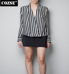 >> Click to Buy << 2015 New Spring Summer Casual Style Women Full Striped Chiffon Pullovers Blouses D3590 #Affiliate