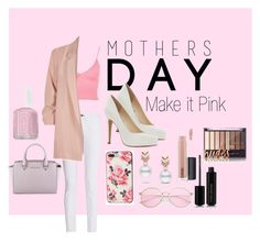 """Mothers Day- Make it PINK"" by cantdoitlikeme on Polyvore featuring Topshop, rag & bone, River Island, Jessica Simpson, MICHAEL Michael Kors, Kate Spade, Escalier, MAC Cosmetics, Marc Jacobs and Essie"