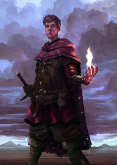 Human Magus - Pathfinder PFRPG DND D&D d20 fantasy
