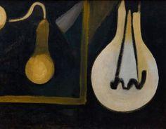 Colin McCahon - The Lamp in my Studio, 1945 Auckland Art Gallery, New Zealand Art, Venice Biennale, Modern Masters, Artist Art, Modern Art, Contemporary, In This World, Artists