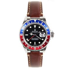 Rolex Vintage Brown Leather Strap for GMT Master by Everest