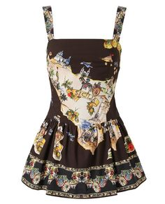 Browns fashion & designer clothes & clothing | DOLCE & GABBANA | Sicilian Map Printed Cotton Playsuit