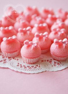 Pink Baby Girl Bow Tie Cupcakes