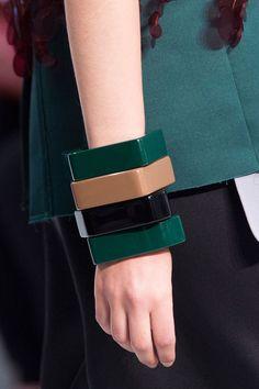 Marni's take on bangles are ultra-modern cubist - via Harper's Bazaar