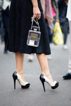 Ok love it all bag, shoes and what I can see of the dress Charlotte Olympia pumps - The Cut