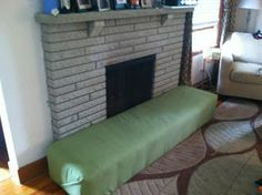 baby proof the fireplace hearth with a padded bench future home rh pinterest com childproof fireplace hearth pads childproof fireplace hearth pads