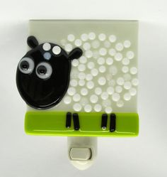 Counting Sheep! Adorable handmade sheep night light. Colorful, whimsical nightlight which is lovely both day and night. Adds a splash of color to any room by day and at