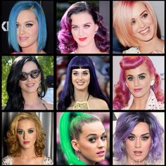 Crazy Katy Perry hair colours!