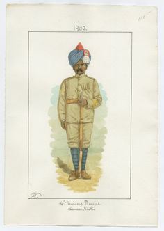 4th Madras Pioneers, Lance-Naik 1902 By Charles James Lyall