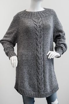 Poncho Sweater med snoning