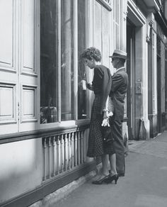 By George - Babe Paley and George Stacey antiquing in Paris, circa 1950