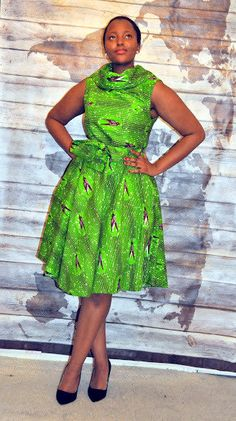 Articles similaires à Bird print High collar dress sur Etsy African Dresses For Kids, Latest African Fashion Dresses, African Print Dresses, African Print Fashion, Africa Fashion, African Clothes, Ankara Fashion, African Prints, African Attire