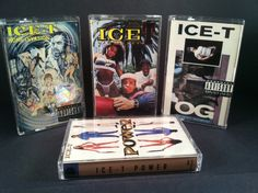 ICE-T - collection of cassettes - home invasion gangsta power hiphop