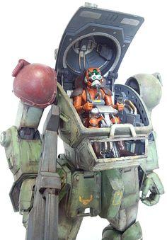 ボークス1/8スコープドッグ完成品をオークションへ・・・・・ - ブログでノスタルジア! Battle Robots, Sci Fi Models, Mecha Anime, Super Robot, Suit Of Armor, Transformers, Mechanical Design, Minis, Freedom Fighters