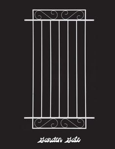 Garden Gate Style Decorative Aluminum Door Grille, Install Easily On Any  Standard Screen Door.