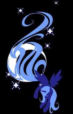 MLP. Princess Luna silhouette!!!!!