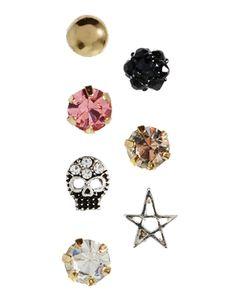 ASOS Singles Grunge Earrings Pack