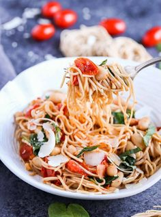 Roasted Tomatoes, White Beans, and Spinach with Whole Wheat Pasta - The Pasta Shoppe Healthy Pasta Dishes, Yummy Pasta Recipes, Healthy Pastas, Healthy Diet Recipes, Noodle Recipes, Pizza Recipes, Rice Recipes, Greek Pasta, Whole Wheat Pasta
