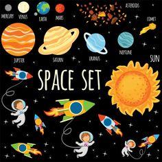 Conjunto de planetas y astronautas en el...   Free Vector #Freepik #freevector #globo #tierra #espacio #galaxia Espace Design, Space Facts, Space Backgrounds, Doodle, Up Book, Galaxy Art, Free Space, Vector Photo, Magazine Template