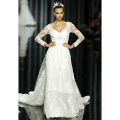 Pronovias 2012 Collection- Long Sleeved Lace