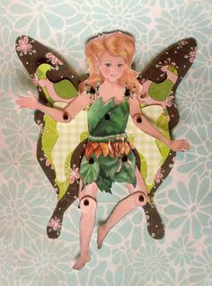 Jointed Fairy Paper Doll Kit  Fawn  Vintage Paper by FrivolTees, $13.50