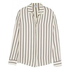 Shop for Frame Denim Le Classic striped washed silk-charmeuse shirt by Frame Denim 31529 at ShopStyle. Smart Casual Wardrobe, Striped Pyjamas, Striped Shirts, Pleated Shirt, Silk Pajamas, Silk Charmeuse, Classic Style Women, Frame Denim, Clothes