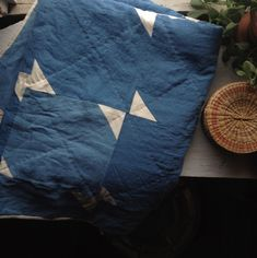 Rabble Quilt / naturally dyed with indigo / sugarhouse workshop