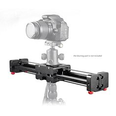 Andoer Retractable Camera Video Slider Dolly 40cm Track Rail Stabilizer 80cm Actual Sliding Distance Load Up to 8kg for Canon Nikon Sony DSLRs Camcorders