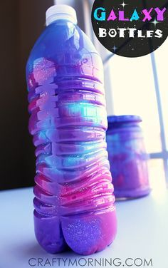 How to Make Galaxy Jars & Bottles (Fun Kids Activity) | CraftyMorning.com