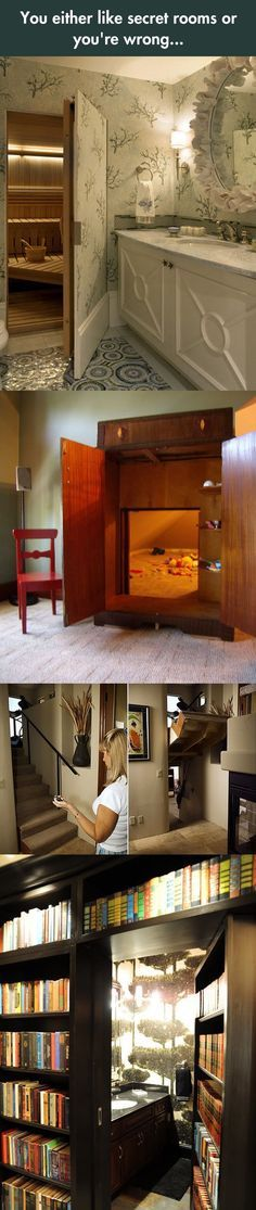 I totally want one of these rooms...preferably with a window, so ...