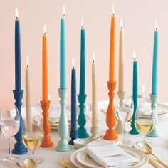 color coordinated candles