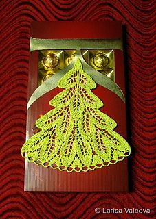 NewYear Tree Ёлочка by Larisa Valeeva | Knitted Christmas tree doily/decoration. The written instructions are not in English but there is a chart.