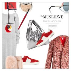 """Poppy-jacquard coat"" by laste-co ❤ liked on Polyvore featuring MM6 Maison Margiela, Valentino, Oscar de la Renta, Loeffler Randall, Marni, Christian Dior, Whiteley and Manon Baptiste"