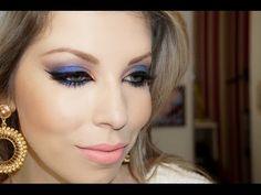 Maquiagem para noite, dourada e violeta, com Lu Ferraes - YouTube