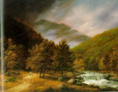 """Thomas Locker is generally considered a part of the """"Hudson River Valley"""" school of painting.  The Hudson River School was a mid-19th century American art movement embodied by a group of landscape painters whose aesthetic vision was influenced by romanticism."""