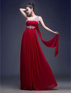 A-line One Shoulder Floor-length Georgette Evening Dress (LF... – EUR € 68.76