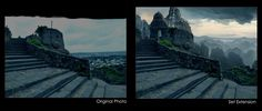 matte painting before and after - Google Search