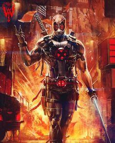 X-Force Deadpool!! Artist: @wizyakuza #XForce #XMen #Wolverine #Logan #Deadpool #Art #DigitalArt #Marvel #MarvelComics #Comics