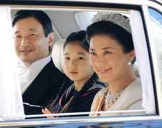 Princess Aiko of Japan, daughter of Japanese Crown Prince Naruhito and Crown Princess Masako, seen here on either side of the Princess.