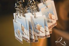 Ski lift place cards for a Ski themed bar mitzvah